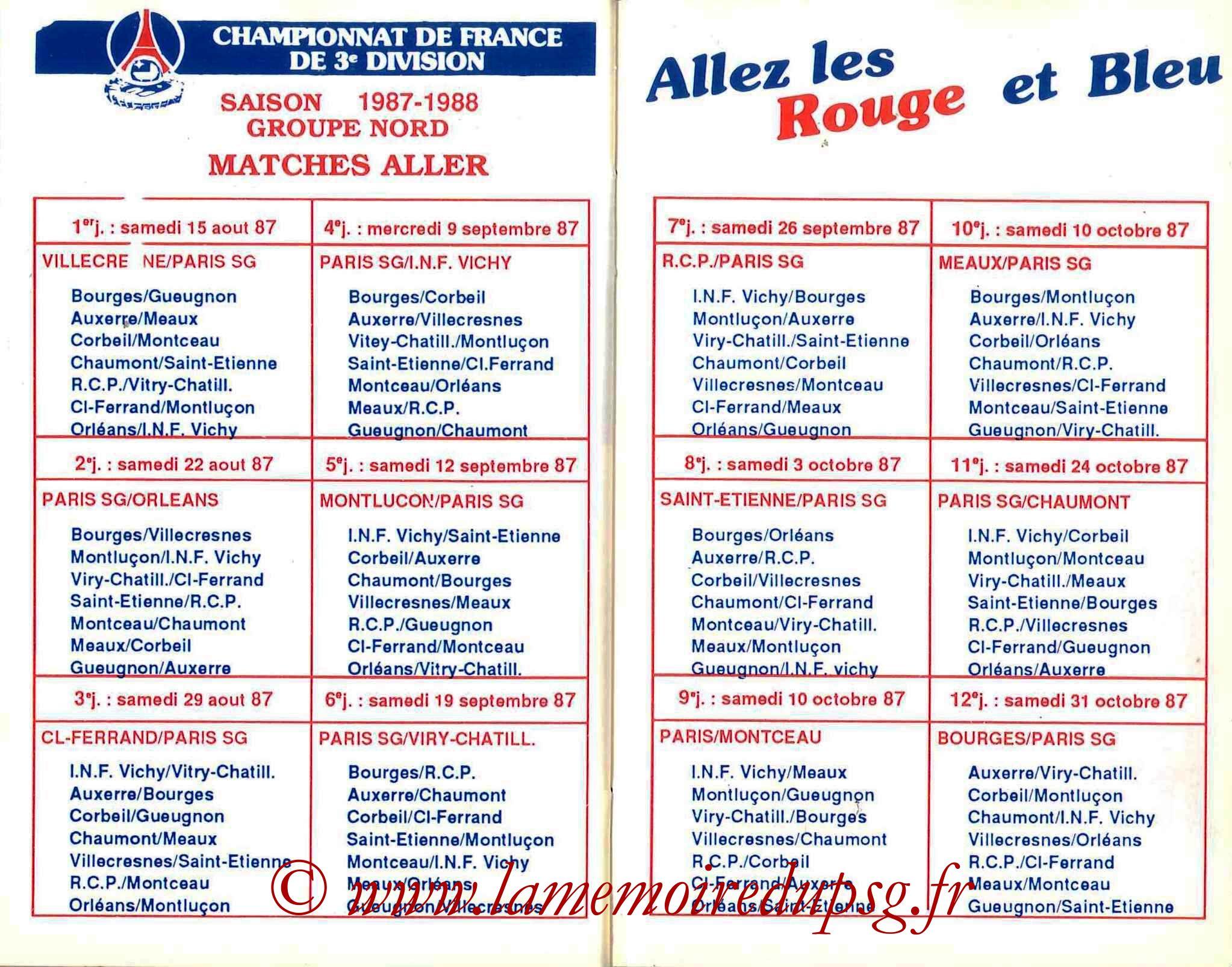1987-88 - Guide de la Saison PSG - Pages 26 et 27