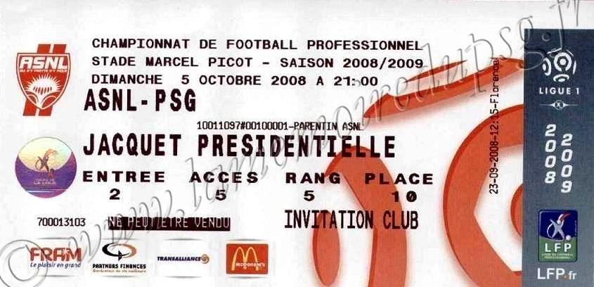 2008-10-05  Nancy-PSG (8ème L1)