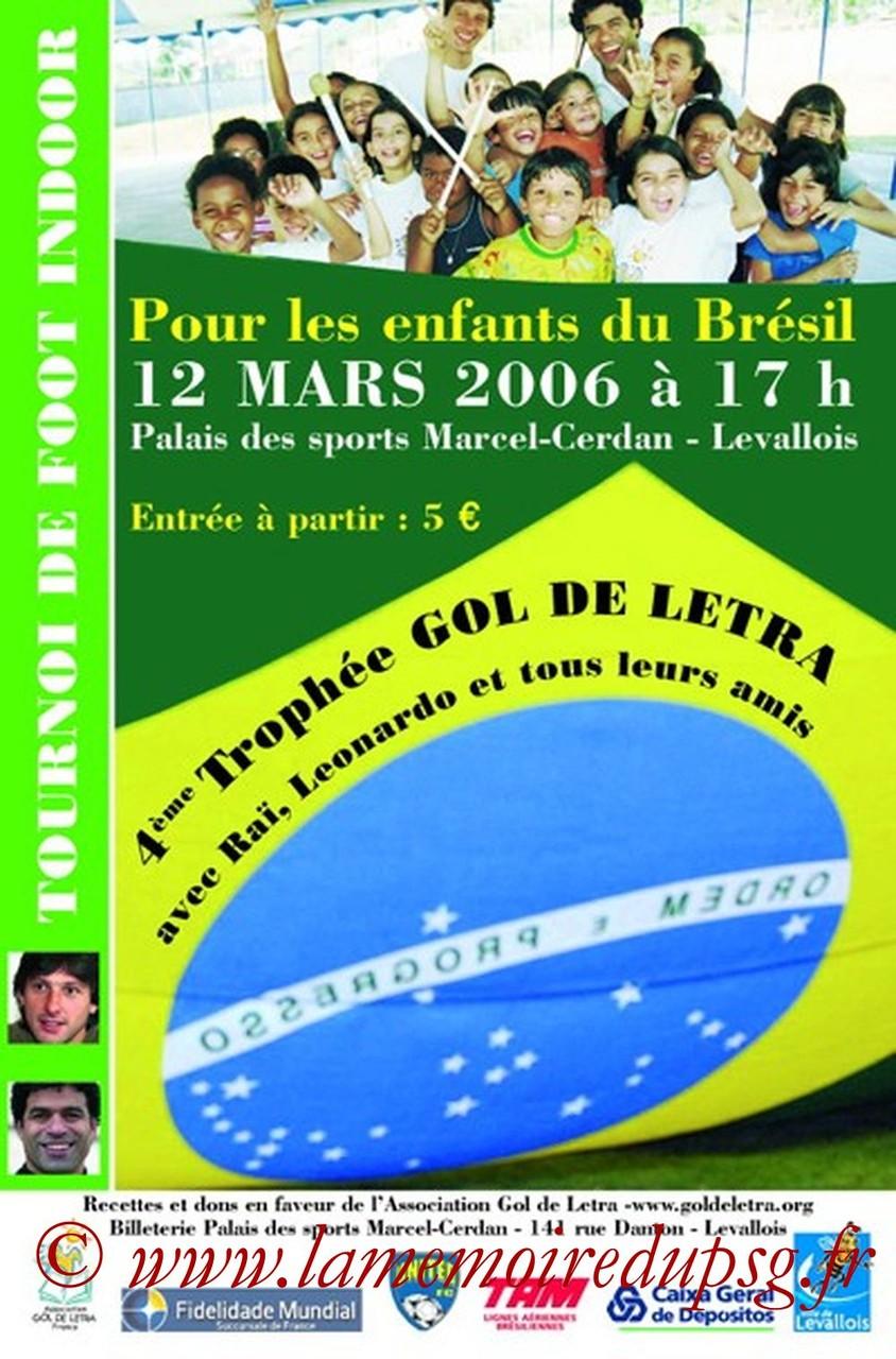 2006-03-12  4eme Gol de Letra (Tournoi amical à Levallois, Affichette)