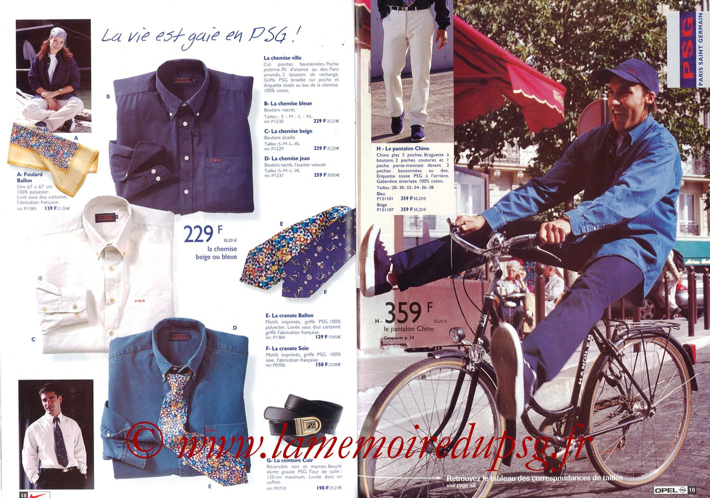 Catalogue PSG - 1998-99 - Pages 18 et 19