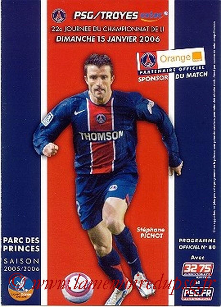 2006-01-15  PSG-Troyes  (22ème L1, Officiel N°80)