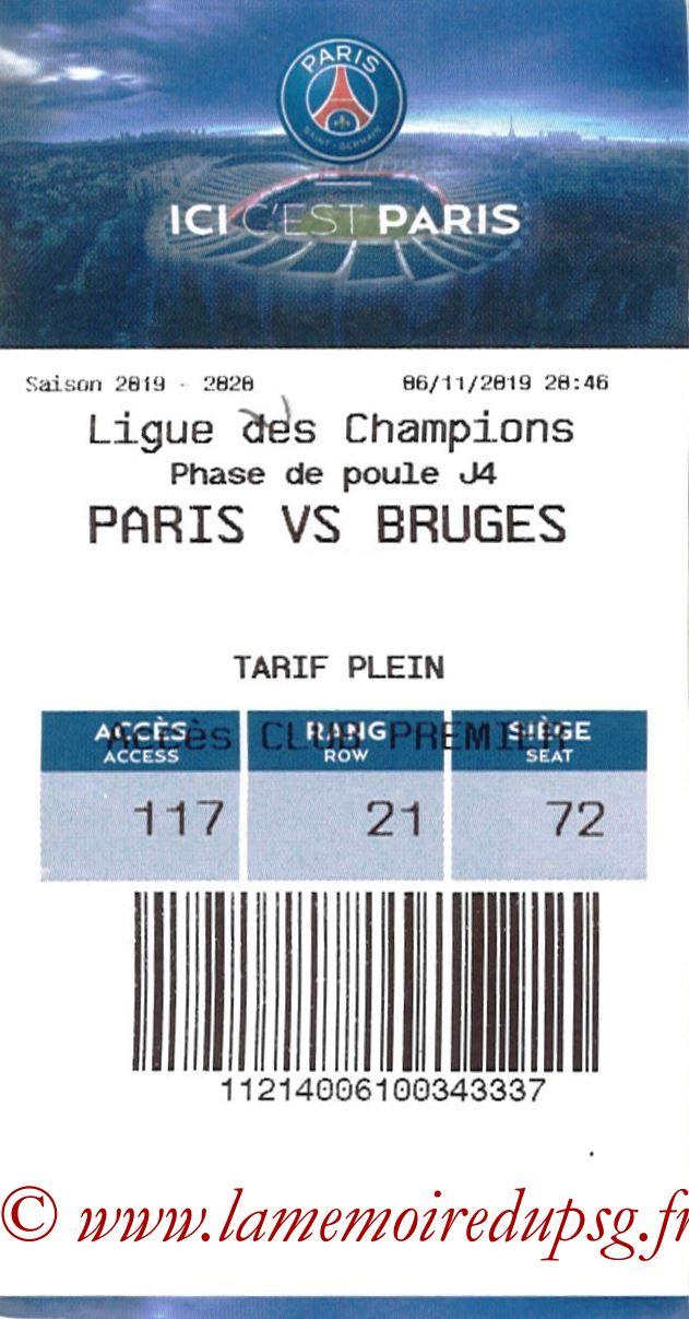2019-11-06  PSG-Bruges (4ème L1, E-ticket)