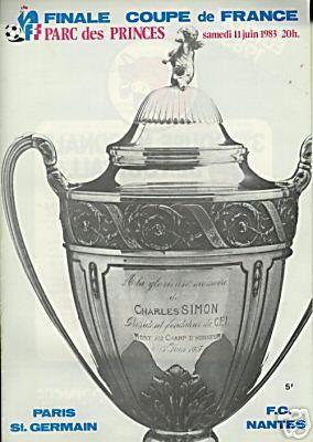 1983-06-11  PSG-Nantes  (Finale CF, Programme Officiel FFF)