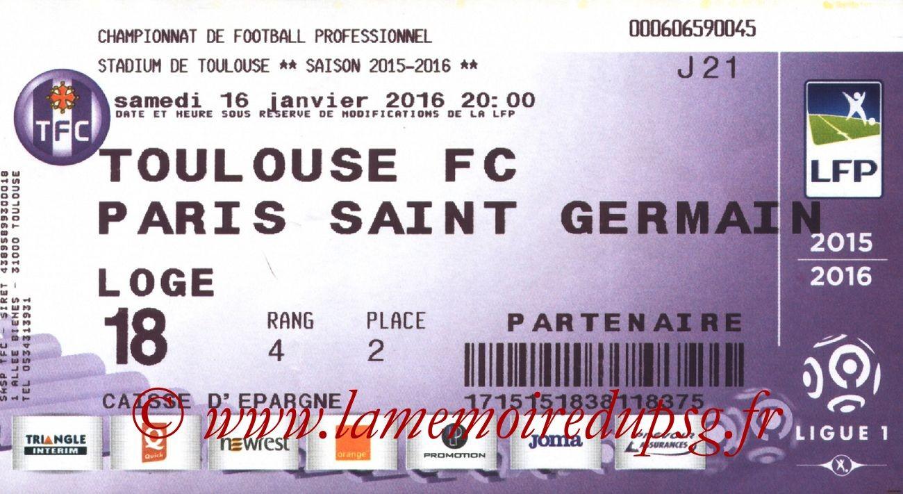 2016-01-16  Toulouse-PSG (21ème L1)