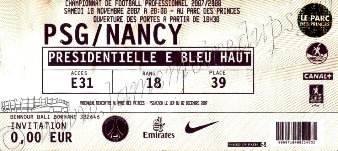 2007-11-10  PSG-Nancy (14ème L1)