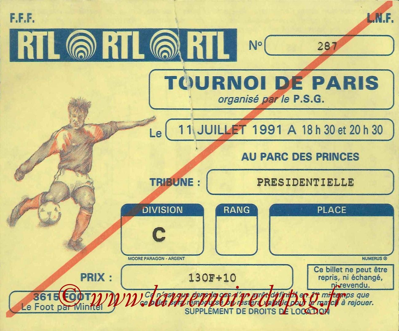 1991-07-11  PSG-Sporting Lisbonne (Match 3ème place Tournoi de Paris, bis)