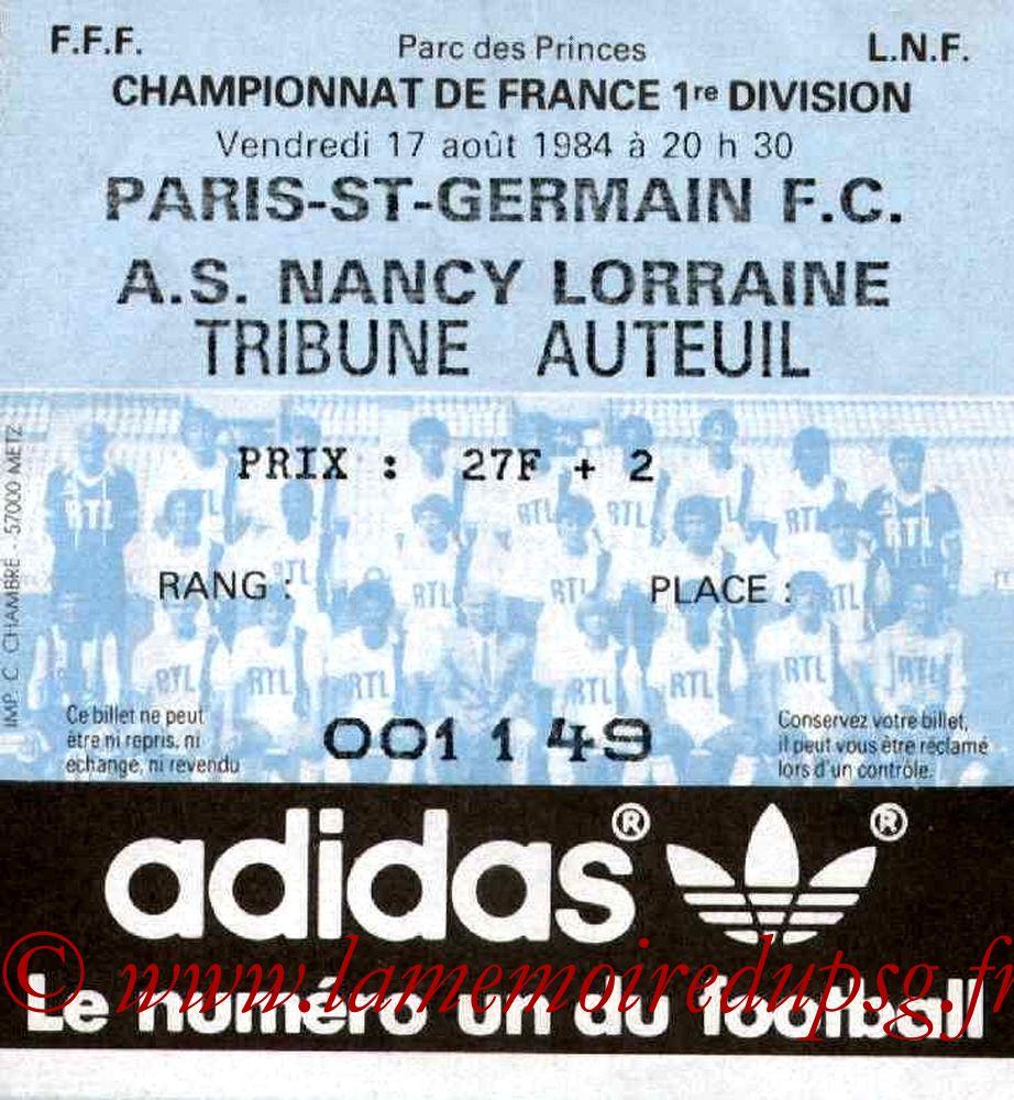 1984-08-17  PSG-Nancy (1ère D1)