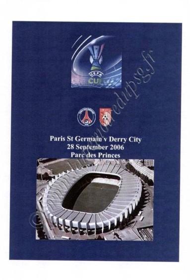 2006-09-28  PSG-Derry City (64ème Retour UEFA, Programme pirate 2)