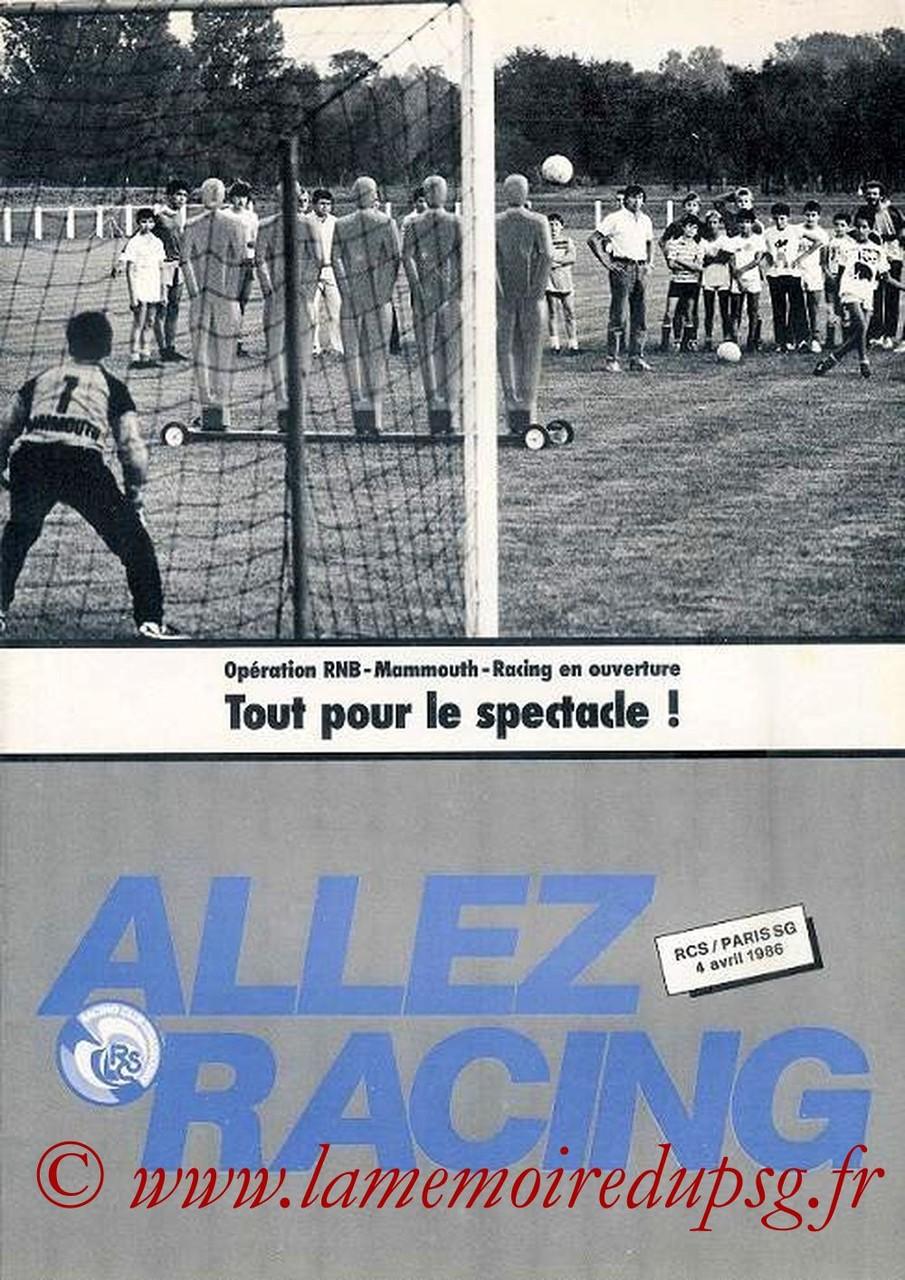 1986-04-04  Strasbourg-PSG (35ème D1, Allez Racing)