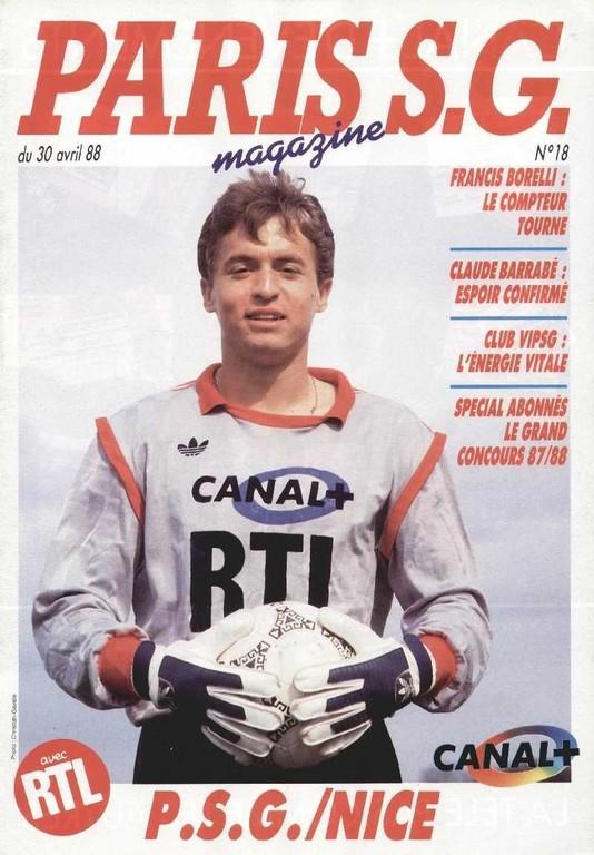 1988-04-30  PSG-Nice (33ème D1, Paris SG Magazine N°18)