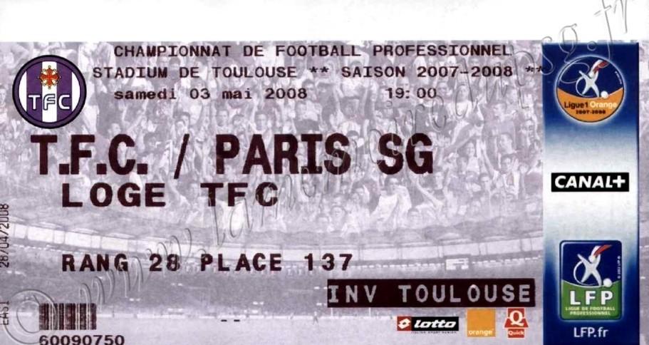 2008-05-03  Toulouse-PSG (36ème L1)