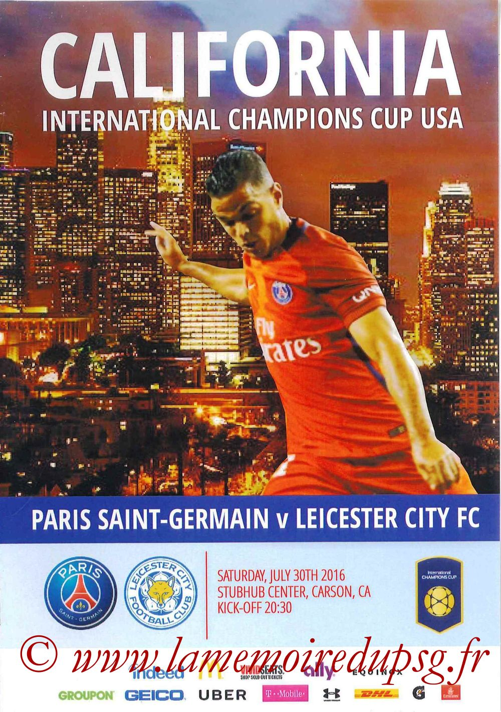 2016-07-30  PSG-Leicester City (International Champions Cup à Carson, Programme pirate)