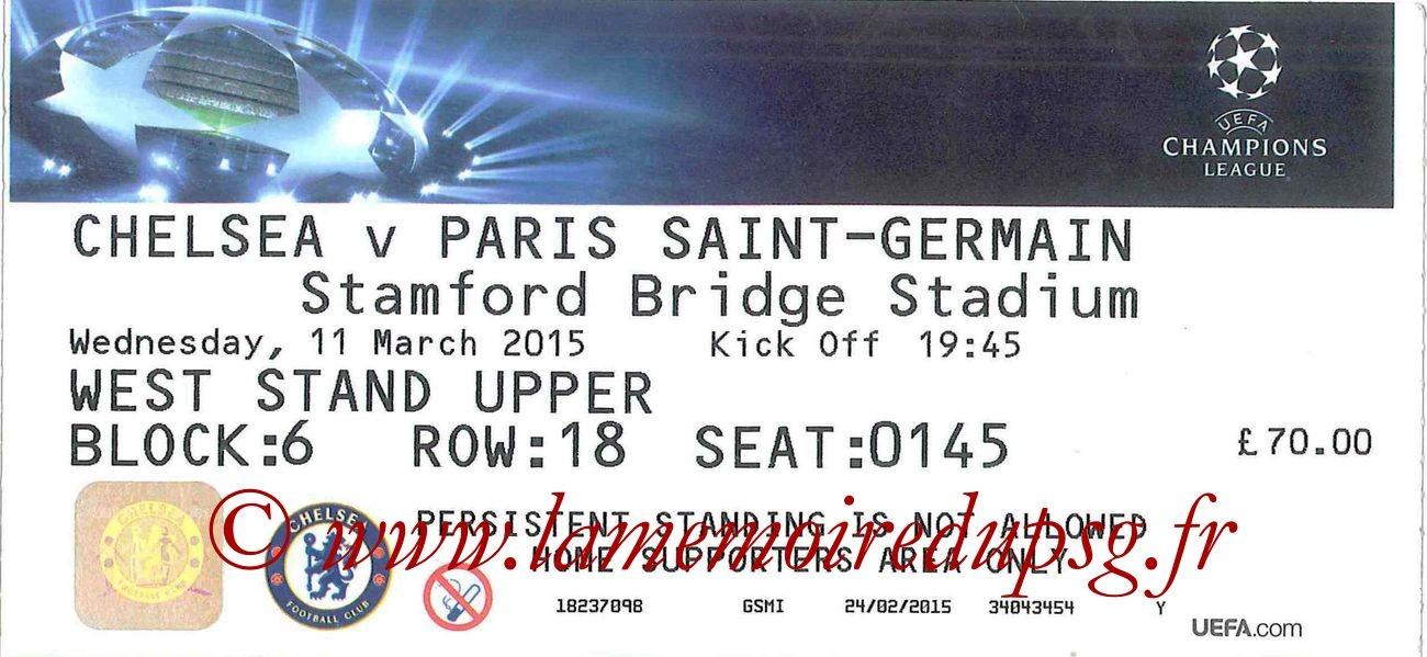 2015-03-11  Chelsea-PSG (8ème retour C1 bis)