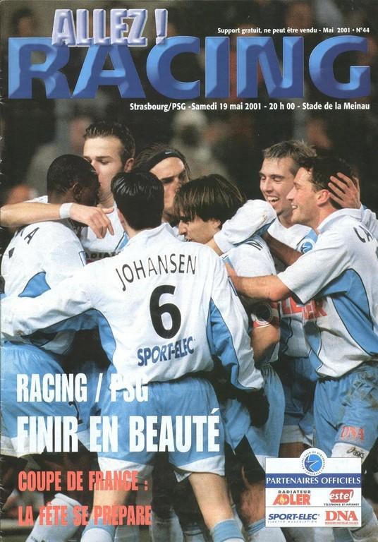 2001-05-19  Strasbourg-PSG (34ème D1, Allez Racing N°44)