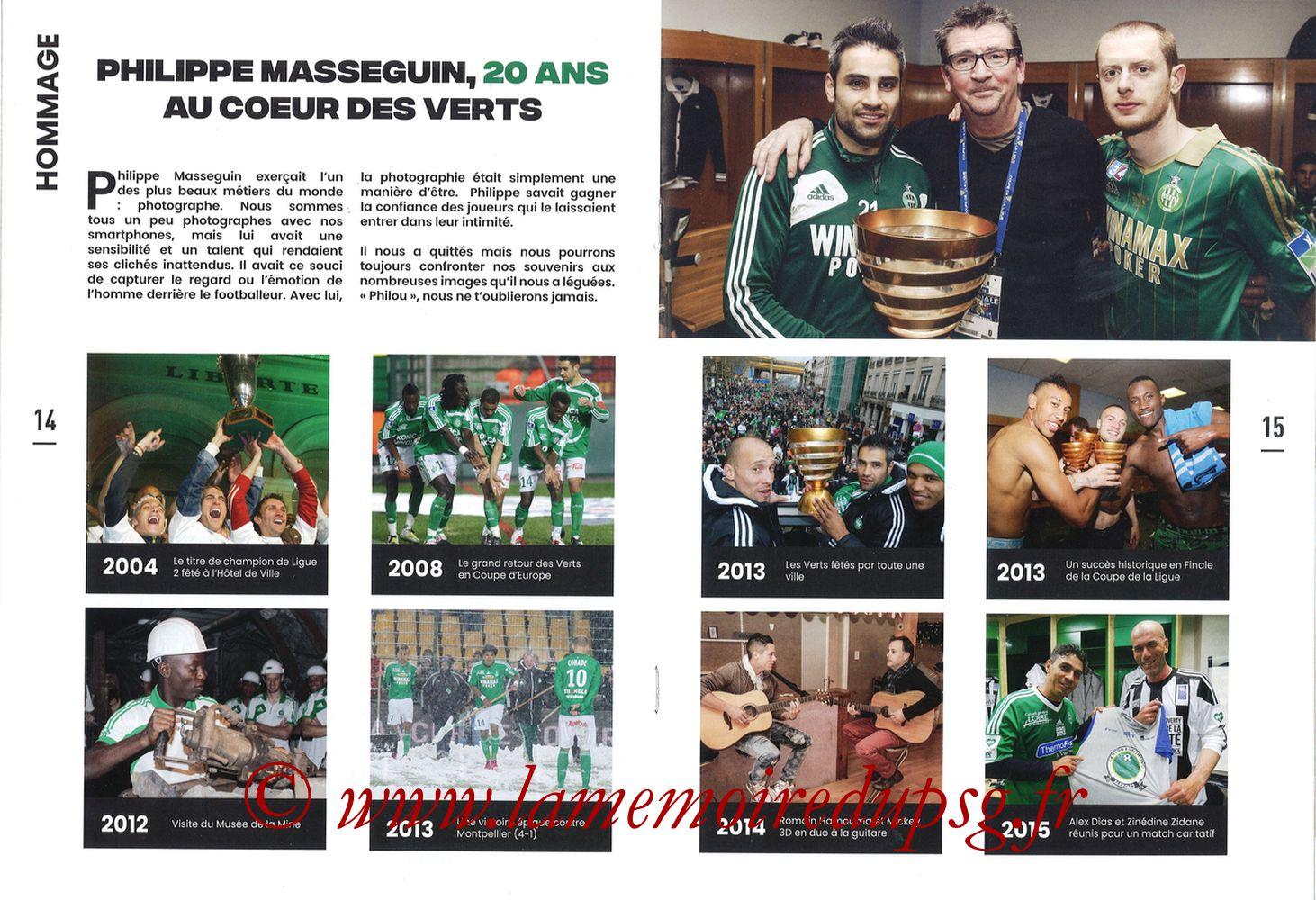 2019-12-15  Saint-Etienne (18ème L1, Maillot Vert N°31) - Pages 14 et 15