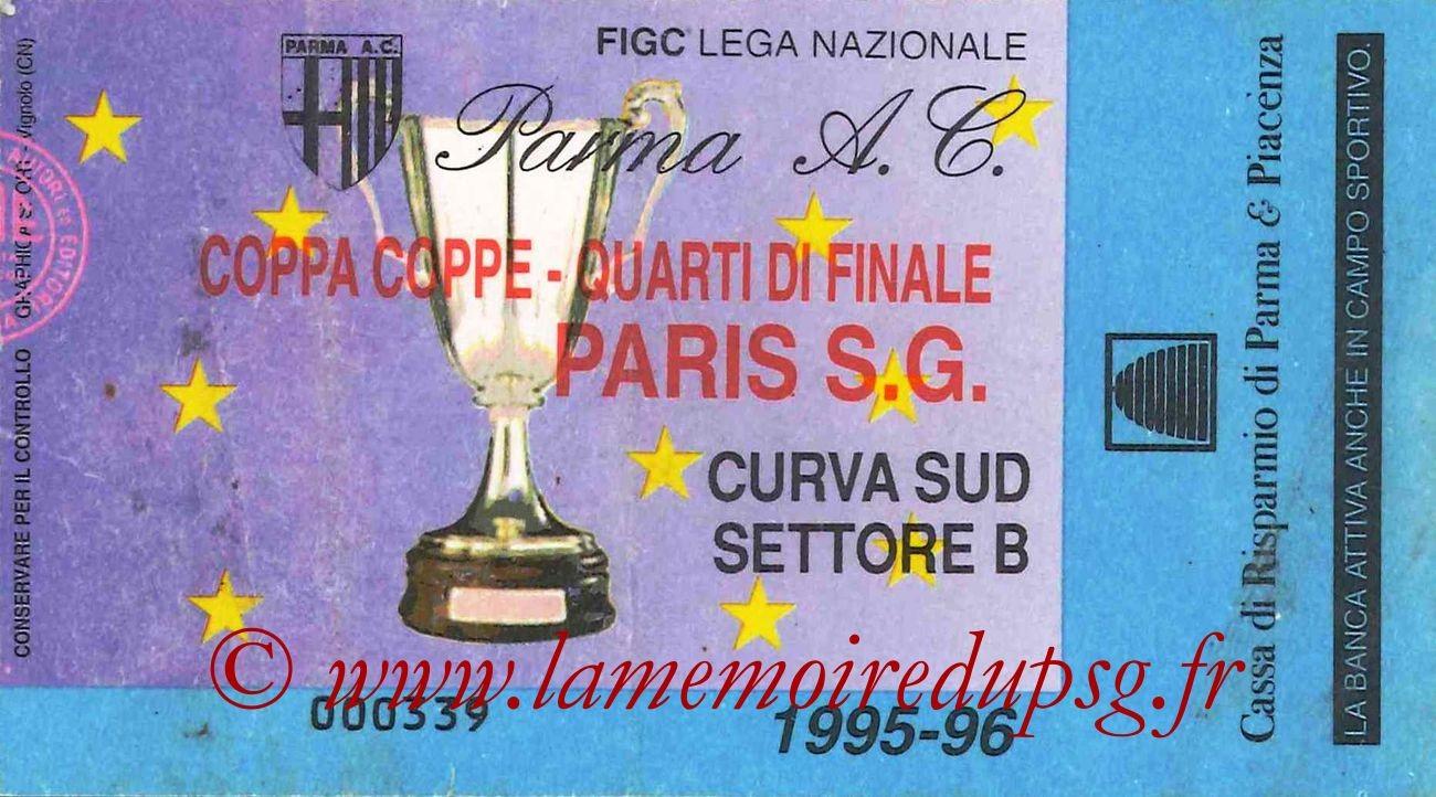 1996-03-07  Parme-PSG (Quart Finale Aller C2, bis)
