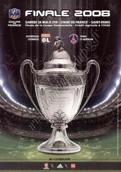 2008-05-24  PSG-Lyon (Finale CF à Saint Denis, Programme officiel FFF)