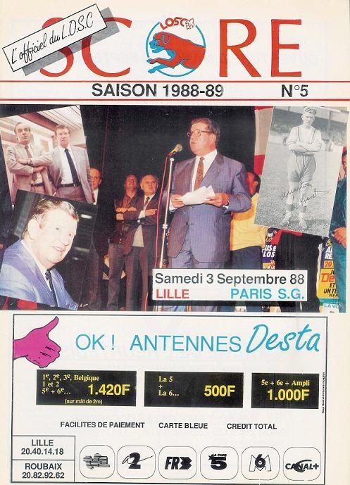 1988-09-03  Lille-PSG (10ème D1, Score N°5)