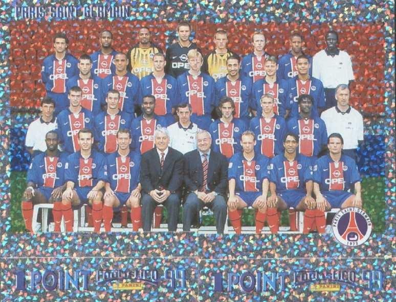 N° 275 et 276 - Equipe PSG