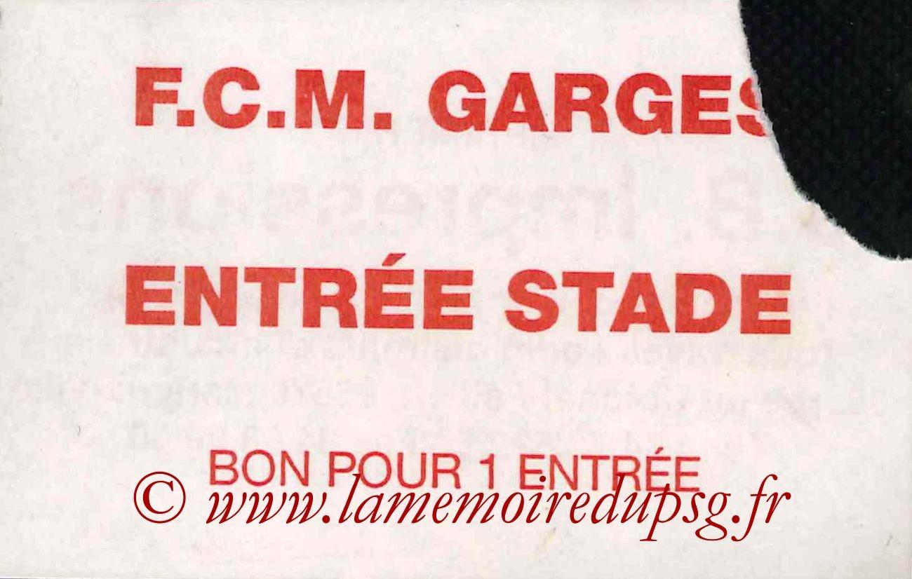 1990-01-11  FCM Garges-PSG (Amical à Garges les Gonesse)