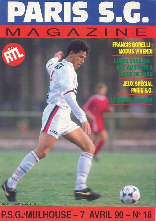 1990-04-07  PSG-Mulhouse (32ème D1, Paris SG Magazine N°18)