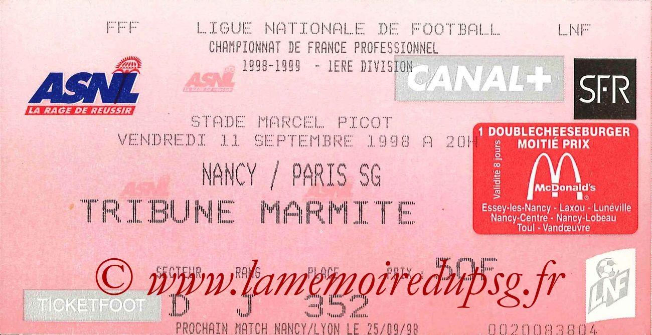 1998-09-11  Nancy-PSG (5ème D1)