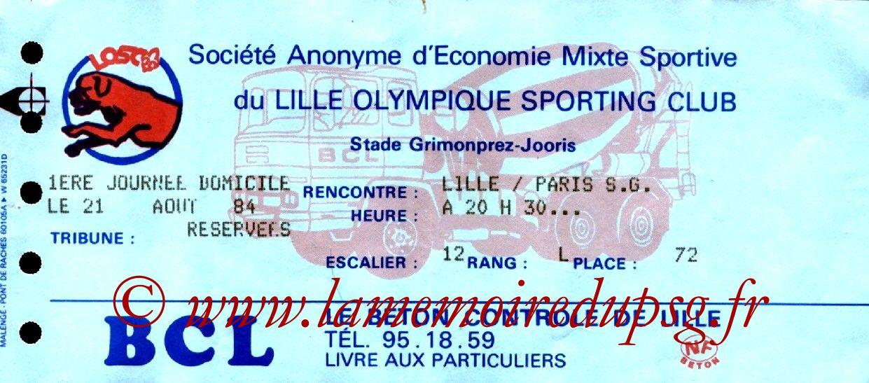 1984-08-21  Lille-PSG (2ème D1)
