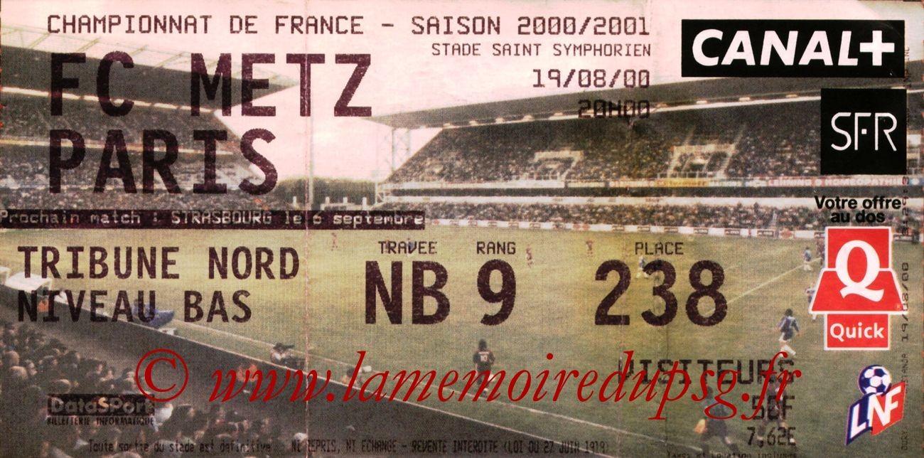 2000-08-19  Metz-PSG (4ème D1)