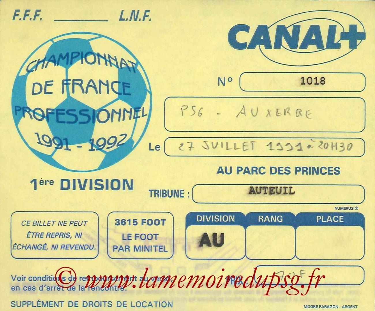 1991-07-27  PSG-Auxerre (2ème D1, Sans Nom)