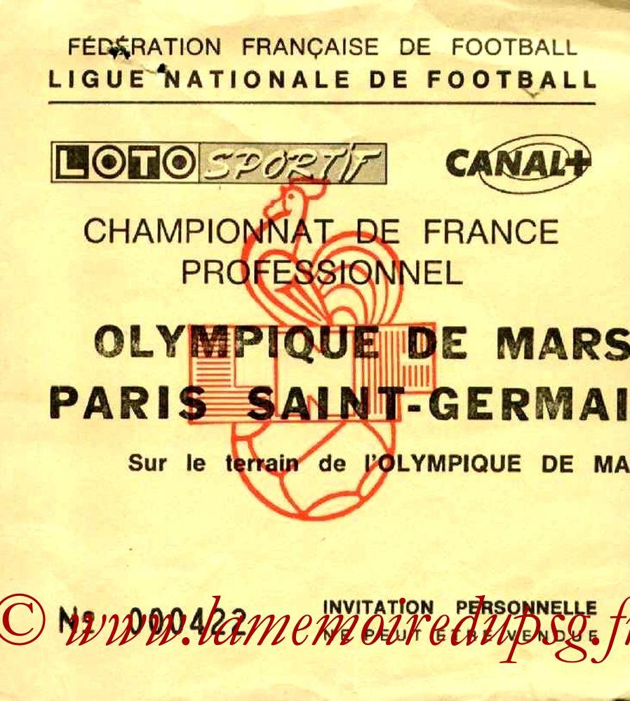 1989-05-06  Marseille-PSG (35ème D1, Invitation)