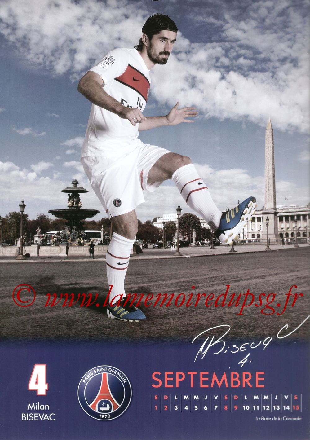 Calendrier PSG 2012 - Page 17 - Milan BISEVAC
