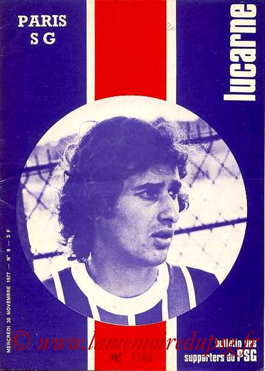 1977-11-30  PSG-Bastia (19ème D1, Lucarne N°9)