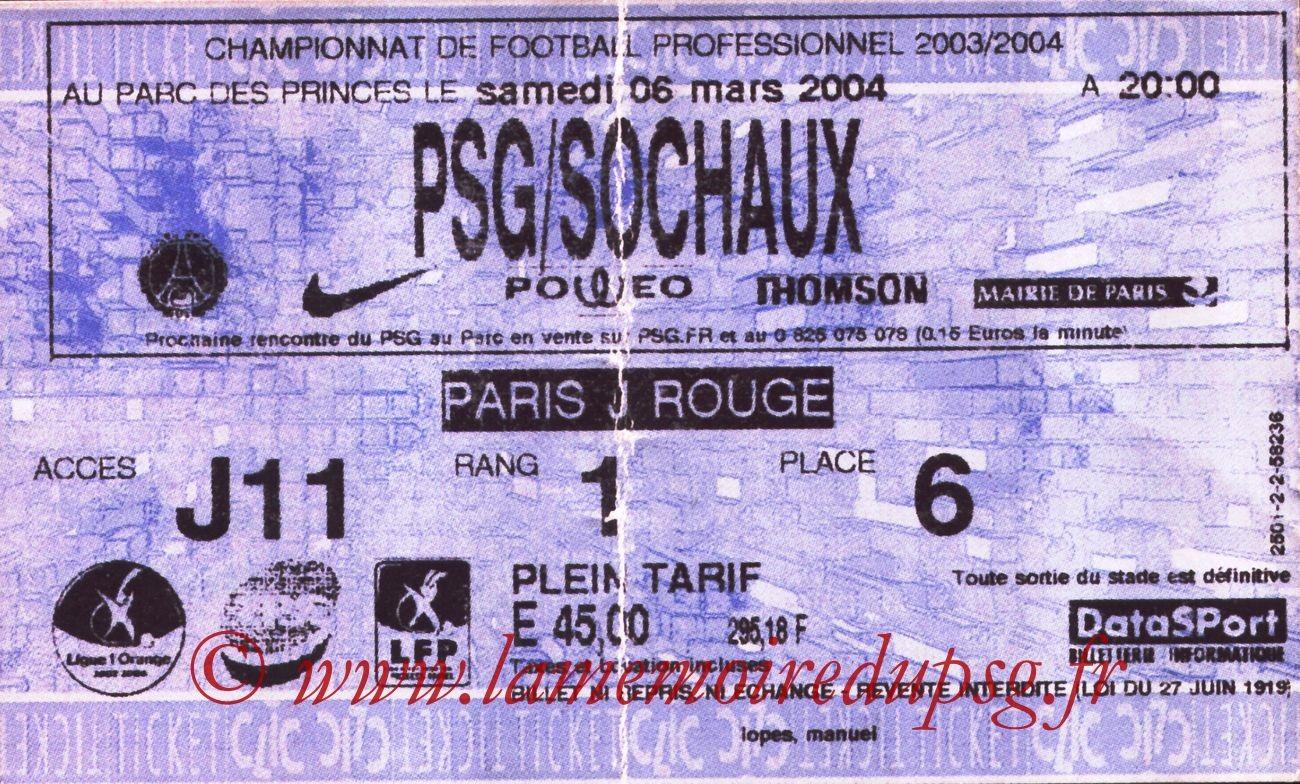 2004-03-06   PSG-Sochaux (27ème L1, Ticketnet bis)