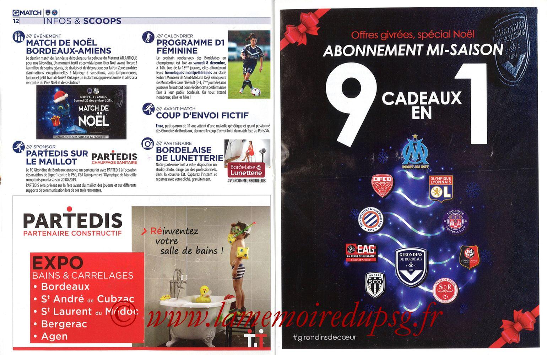 2018-12-02  Bordeaux-PSG (15ème L1, Girondins Match N°72) - Pages 12 et 13