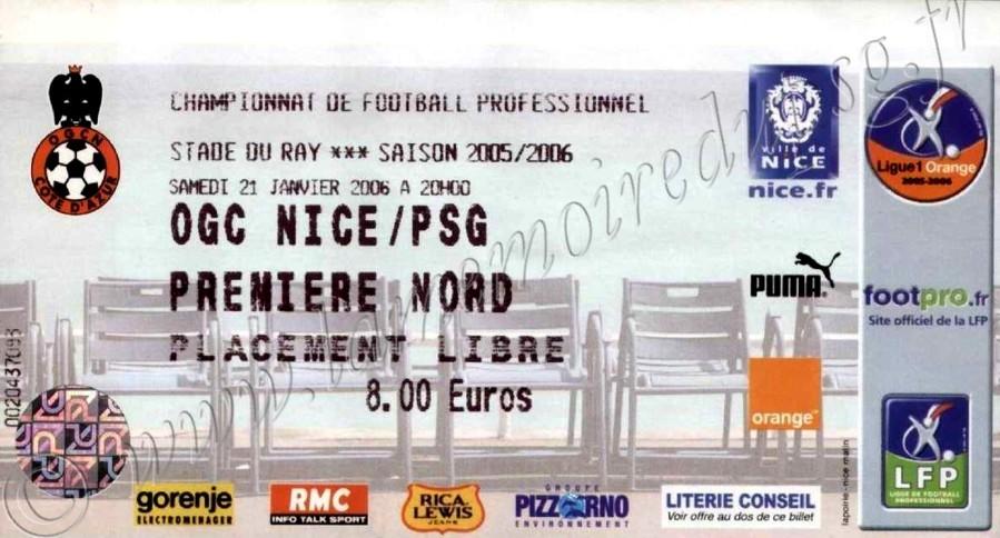 2006-01-21  Nice-PSG (23ème L1)