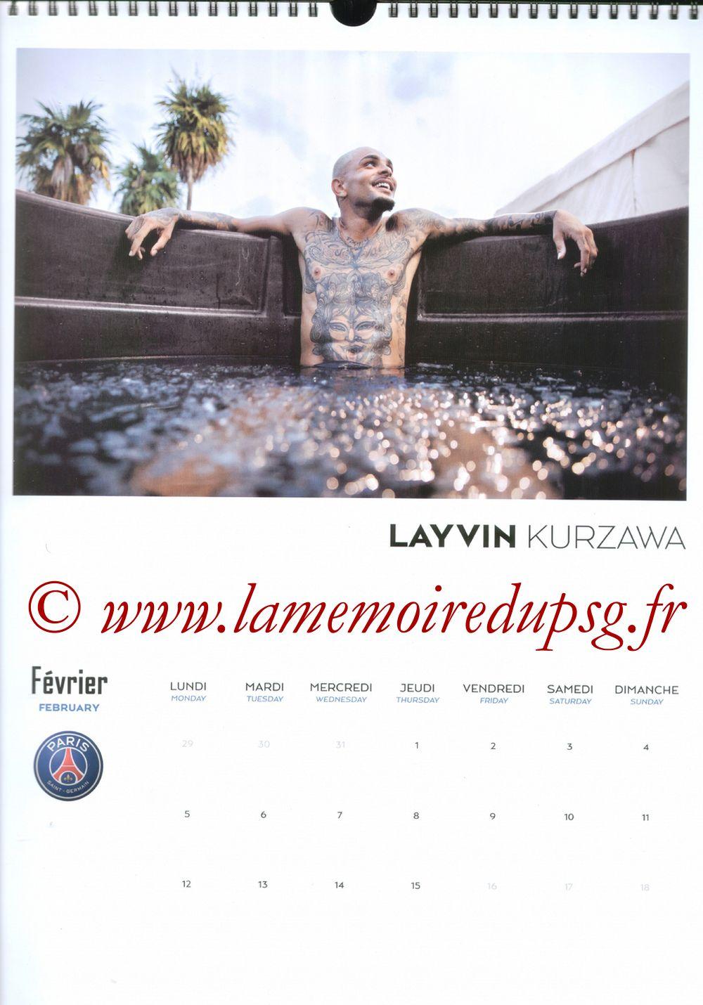 Calendrier PSG 2018 - Page 03 - Layvin KURZAWA