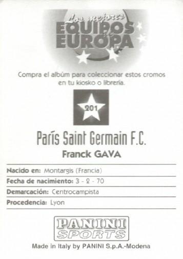 N° 201 - Franck GAVA (Verso)