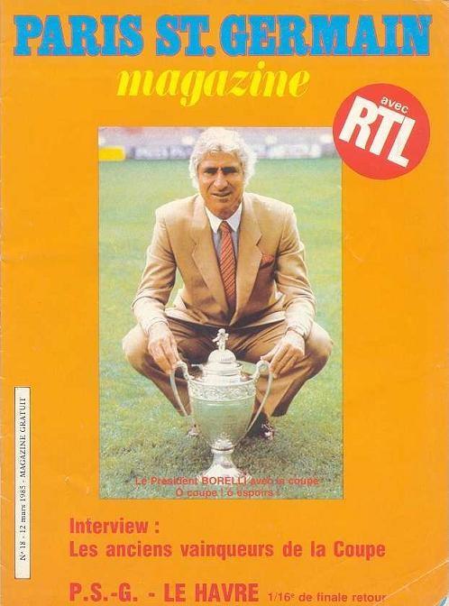 1985-03-12  PSG-Le Havre (16ème Finale Retour CF, Paris SG Magazine N°18, Vrai numéro 17)