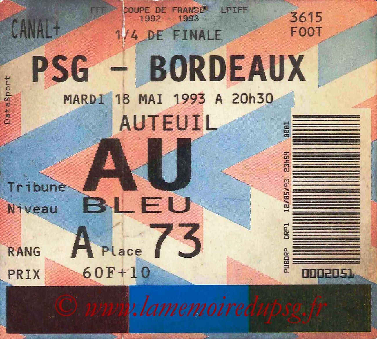 1993-05-18  PSG-Bordeaux (Quart Finale CF, bis)