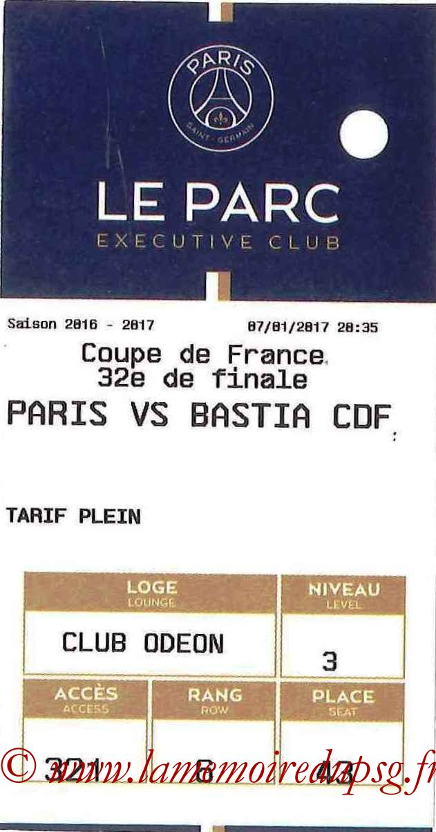 2017-01-07  PSG-Bastia (32ème CF, E-ticket Executive club)