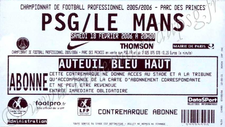 2006-02-18  PSG-Le Mans (27ème L1)
