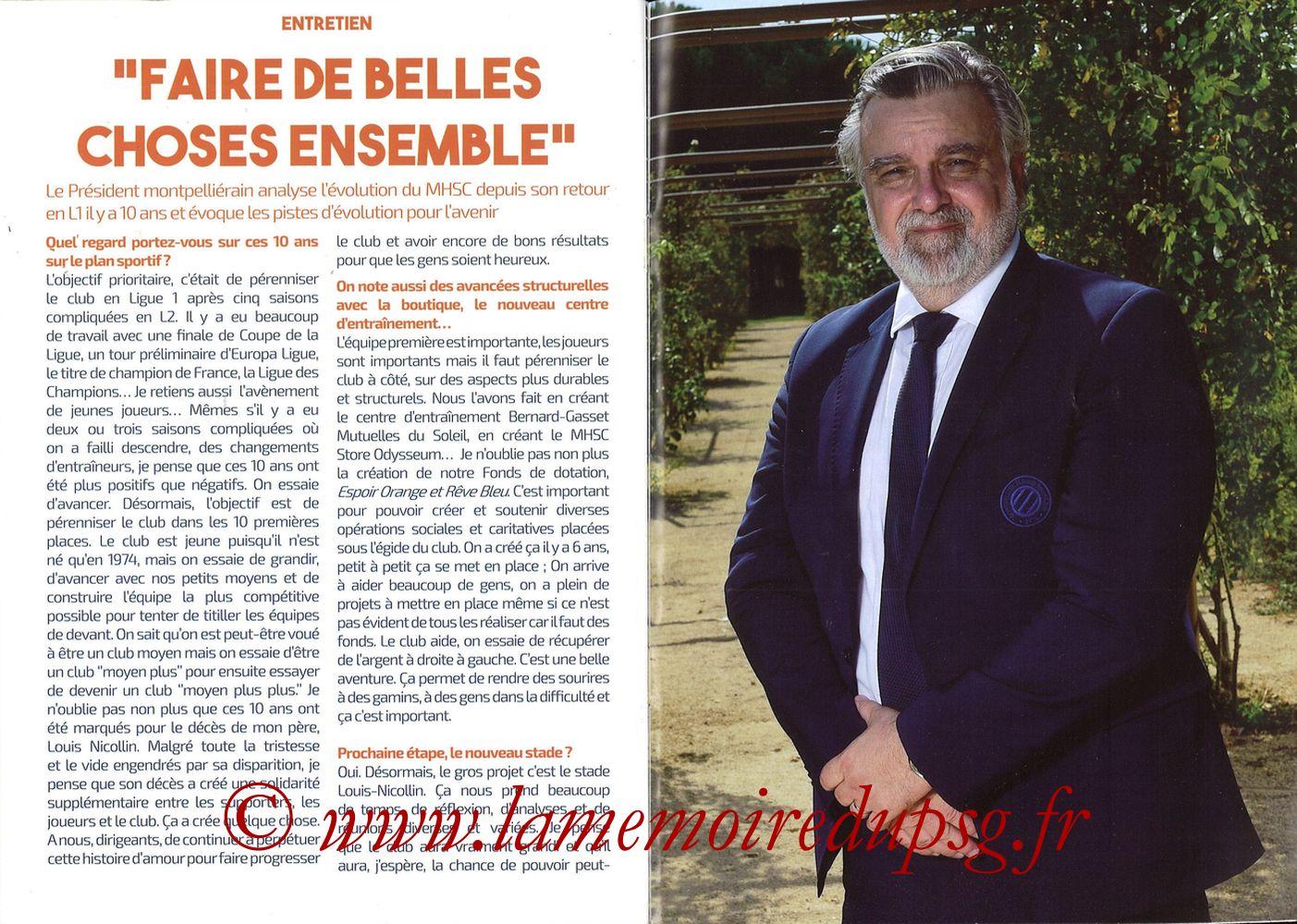 2019-12-07  Montpellier-PSG (17ème L1, L'Echo de la Mosson N°9) - Pages 24 et 25