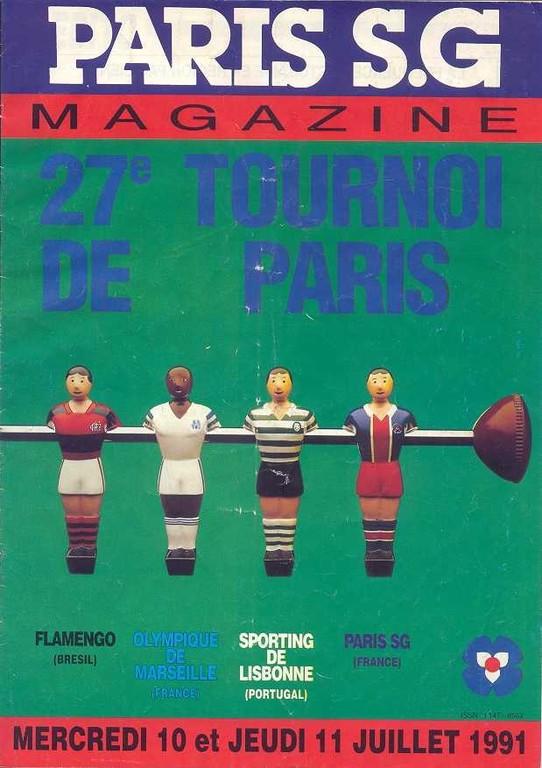 1991-07-10 et 11 PSG-Flamengo et PSG-Sporting Lisbonne (27ème Tournoi de Paris)