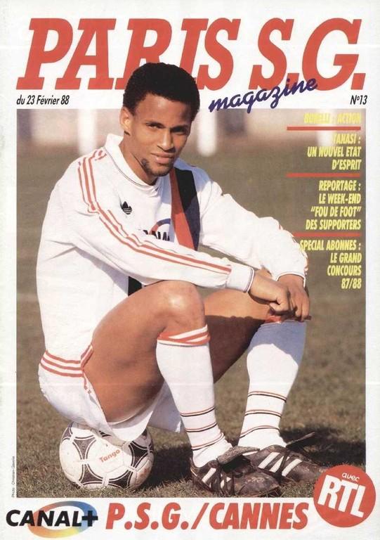 1988-02-23  PSG-Cannes (25ème D1, Paris SG Magazine N°13)