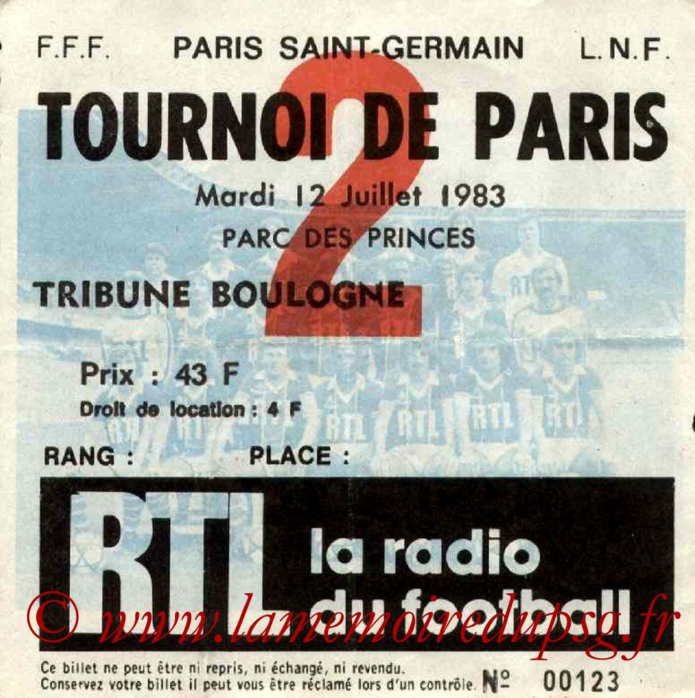 1983-07-12  PSG-Equipe de Roumanie (Finale Tournoi de Paris)
