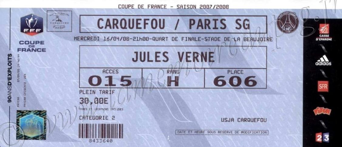 2008-04-16  Carquefou-PSG (Quart Finale CF à Nantes)