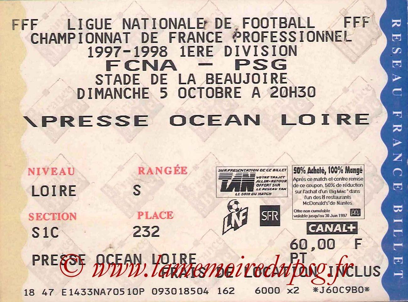 1997-10-05  Nantes-PSG (10ème D1)