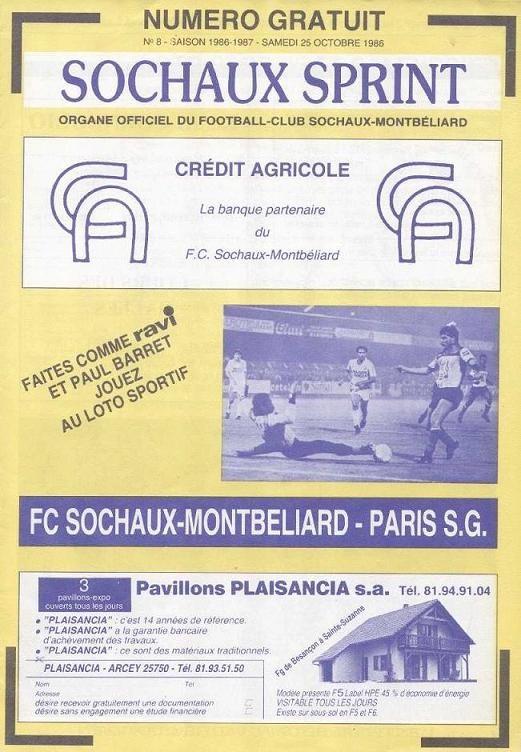 1986-10-25  Sochaux-PSG (14ème D1, Sochaux sprint N°8)
