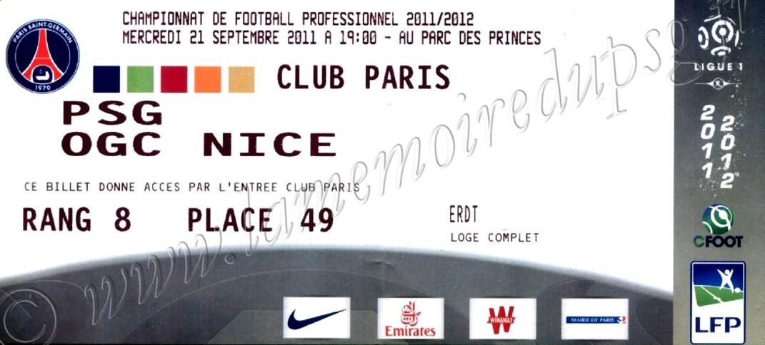 2011-09-21  PSG-Nice (7ème L1, Club Paris)