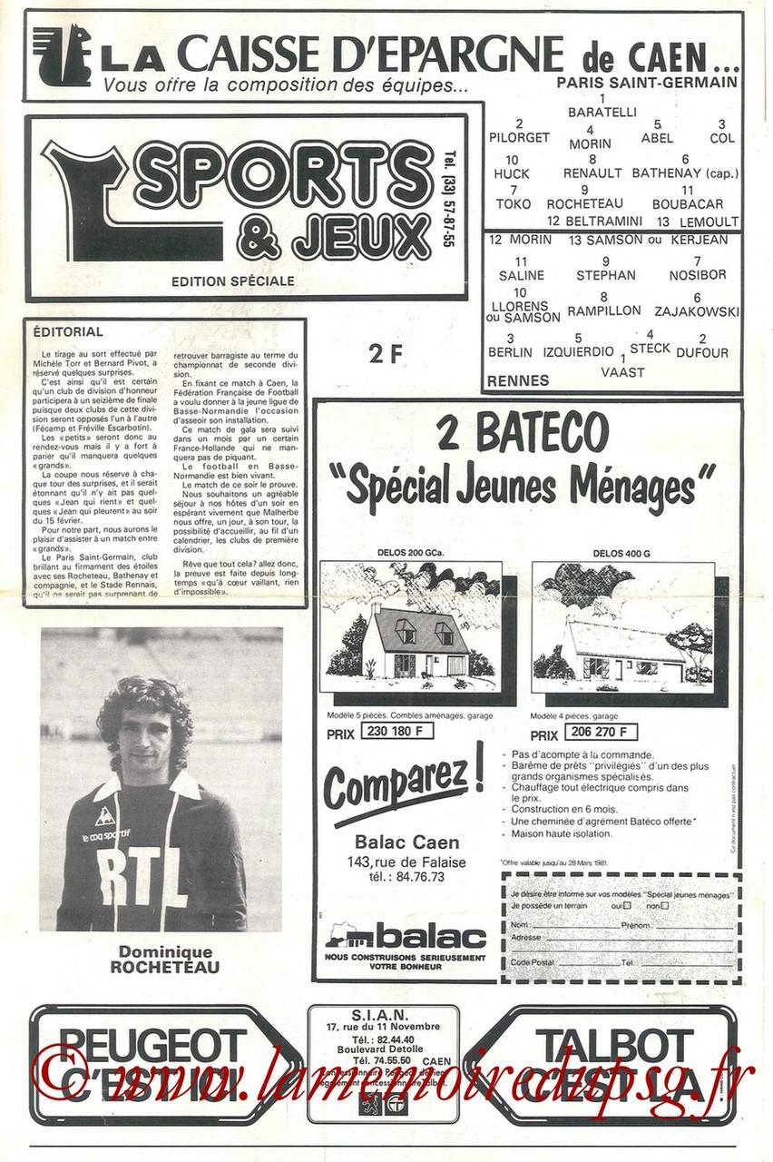 1981-02-14  Rennes-PSG (32ème CF à Caen)
